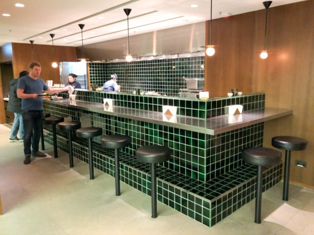 Cathay Pacific The Deck lounge business class Hong Kong Airport