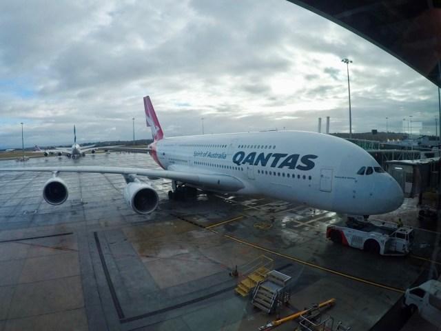 Qantas, a380, melbourne, gate