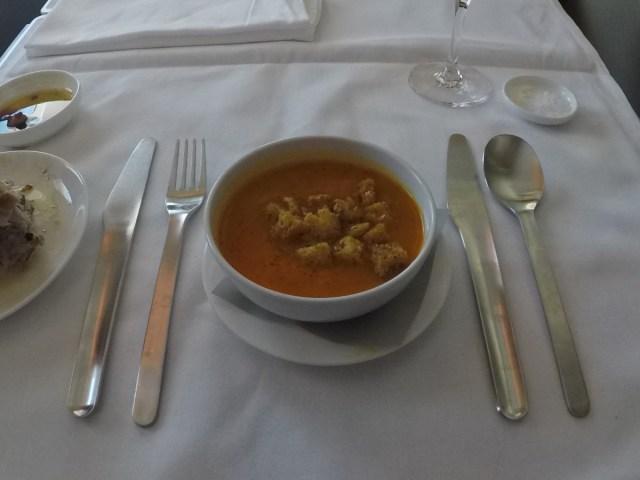 soep, Qantas, first class