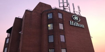 hilton, manchester, airport, review