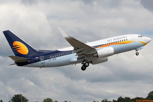 Boeing 737 van Jet Airways (Bron: WikiMedia Commons / Rick Schlamp)