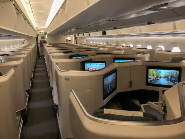 Cathay Pacific Business Class A350-1000 Hong Kong Amsterdam
