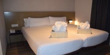 Deze kamer beschikt over twee apart bedden