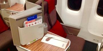 garuda indonesia, business class, boeing 777, review