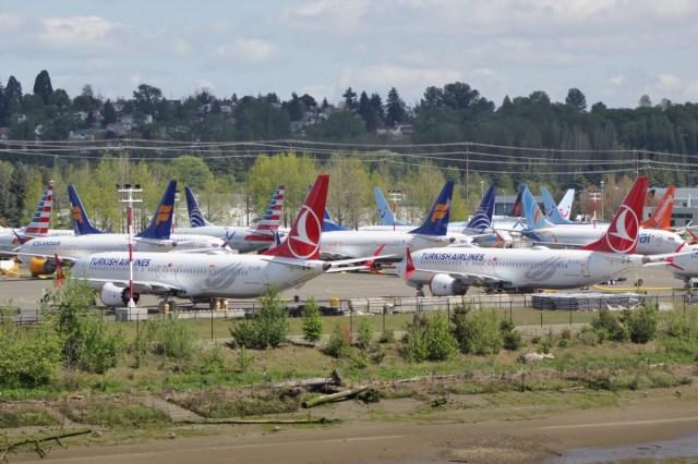 Boeing 737 MAX vliegtuigen nabij de Boeing fabriek in de VS (Bron: WikiMedia Commons / SounderBruce)