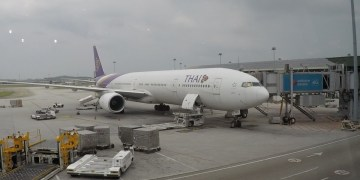 thai airways, boeing 777, business class, review