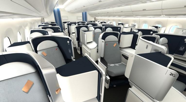 Nieuwe business class A350 Air France