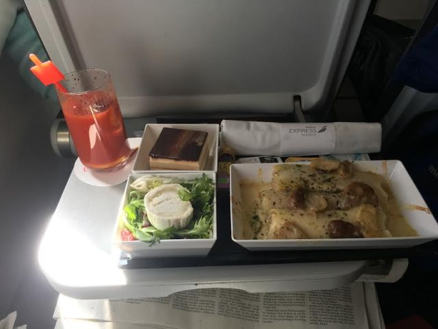 Maaltijd business class Iberia
