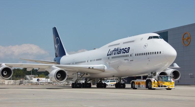 Boeing 747-400 van Lufthansa op de luchthaven van Frankfurt (Bron: Lufthansa)