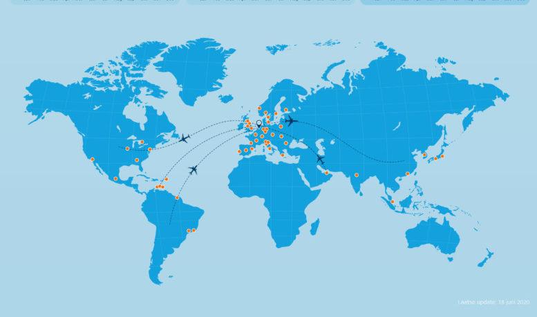 KLM netwerk