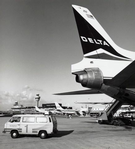 Het eerste Delta toestel wat op Schiphol landde was een Lockheed Tristar (Bron: Delta)