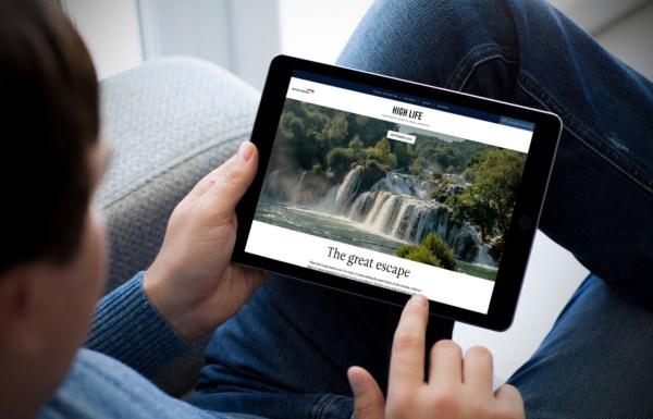 British Airways ziet af van papieren Inflight Magazine