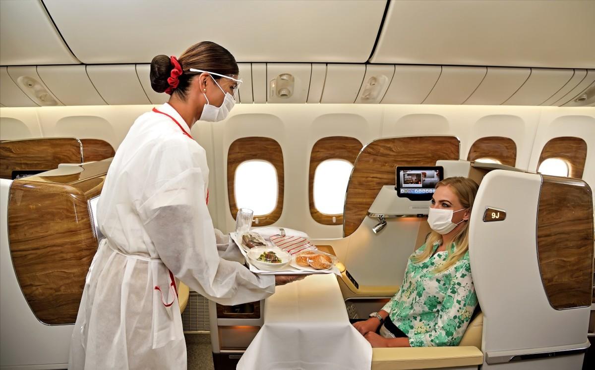 Emirates neemt aan boord diverse voorzorgsmaatregelen (Bron: Emirates)