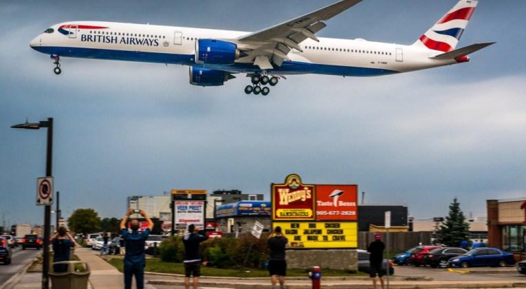 Airbus A350 van British Airways landt op de luchthaven van Toronto Pearson (Bron: British Airways)