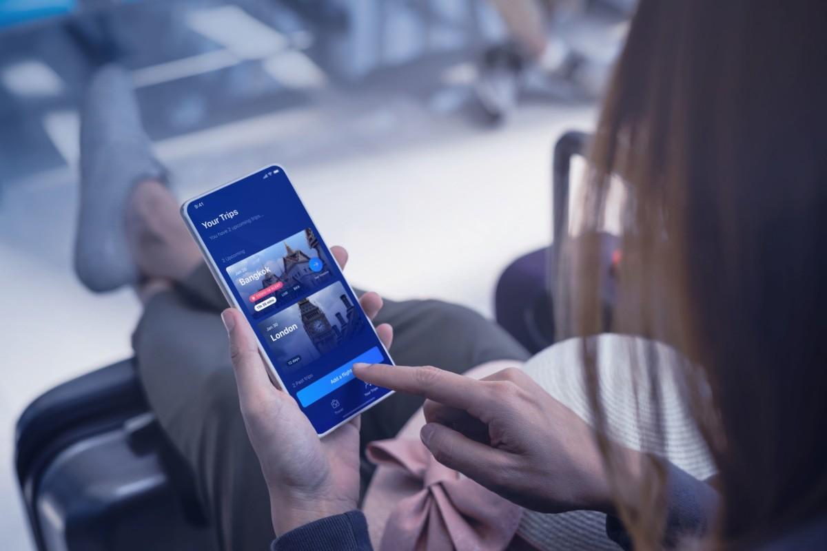De Tripset app van Airbus moet reizigers het makkelijker gaan maken (Bron: Airbus)
