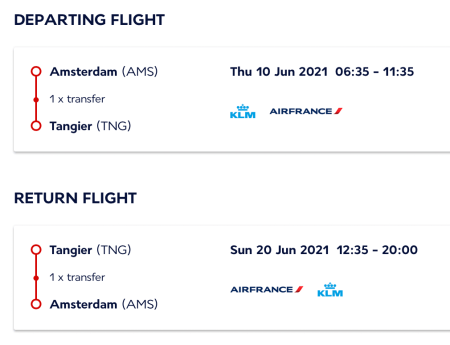 Air France vanaf de zomer naar Tanger, Marokko
