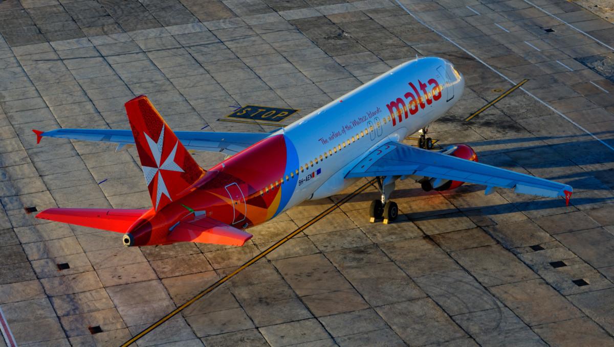 Airbus A320-200 van Air Malta op het de internationale luchthaven van Malta (Bron: Air Malta)