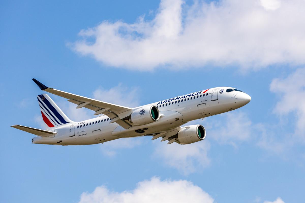 De eerste Airbus A220-300 is inmiddels geland in Parijs (Bron: Air France)