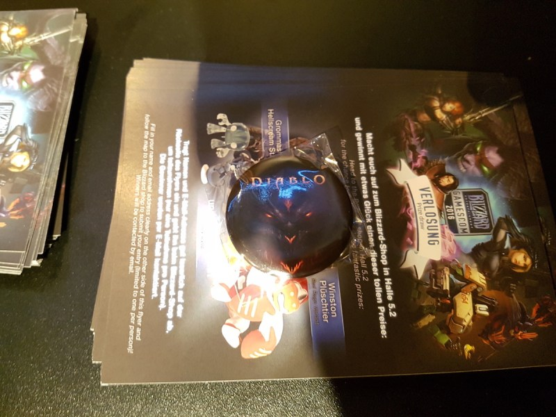Diablo Pin in Halle 7 bei Blizzard