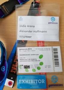 gamescom Aussteller Badge