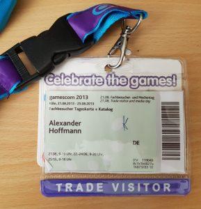 gamescom Fachbesucher Badge
