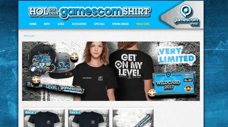 gamescomwear Wild Level Pack Übersicht