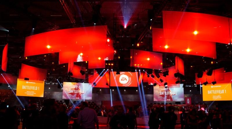 EA Stand in Halle 6, gamescom 2016