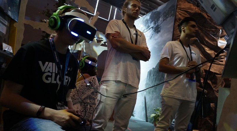 Playstation VR am Crytek Stand 2015