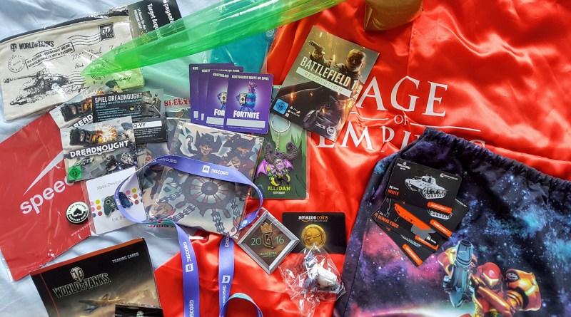 Einige gamescom Goodies der vergangenen Jahre
