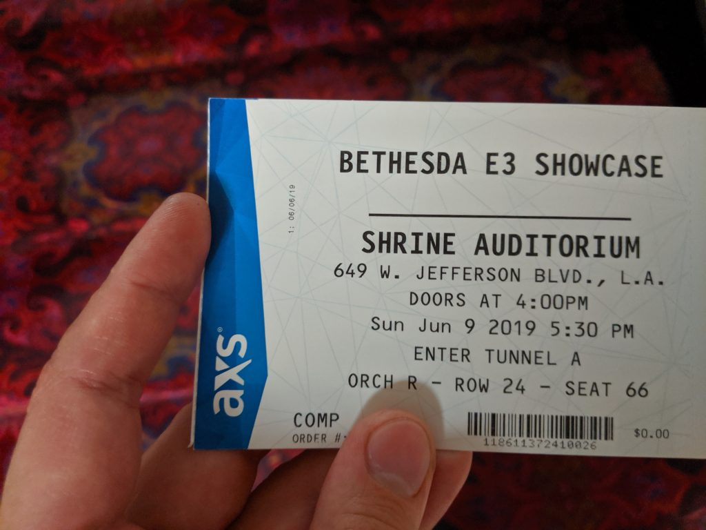 Ticket zum Bethesda Showcase