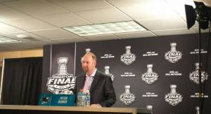 Coach Peter DeBoer was content in his first year with the Sharks.