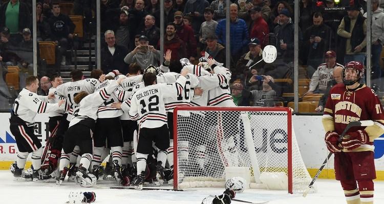 Huskies Outlast Eagles, Claim Third Hockey East Crown – Inside Hockey