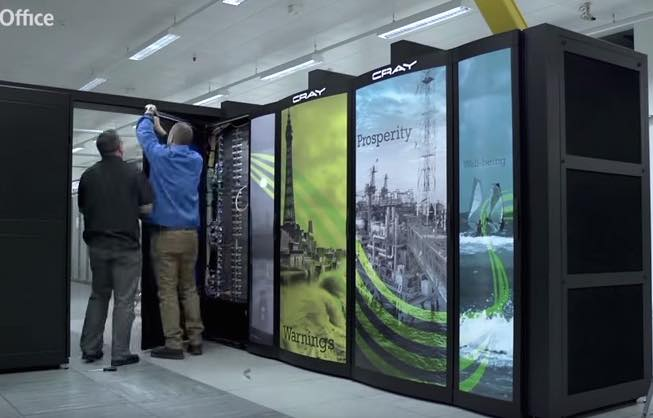 Timelapse Video Installation of Cray Supercomputer at UK