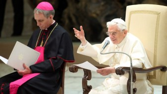 Pope Benedict XVI Attends His Weekly Audience At The Paul VI Hall
