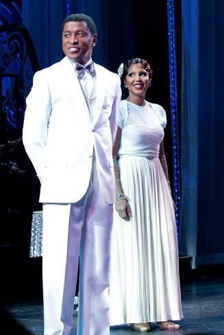 "Toni Braxton and Kenny ""Babyface"" Edmonds Curtain Call in ""After Midnight"" on Broadway-NY"