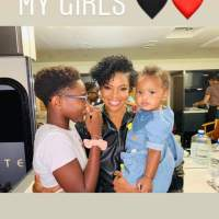 dwyane wade shows love to the girls in his life!
