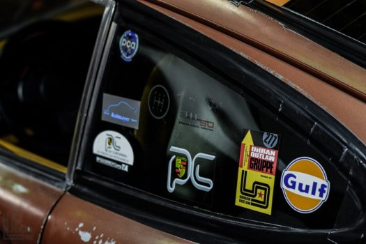 Porsche Club stickers on Jay Lloyds' 911 Rat Rod
