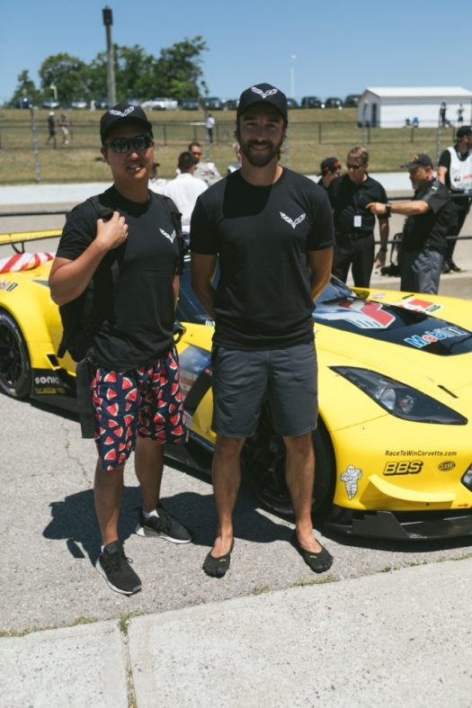 Lucky winners of the #ChevyRaceFace contest. Maybe they'll let us in a C7.R next year?