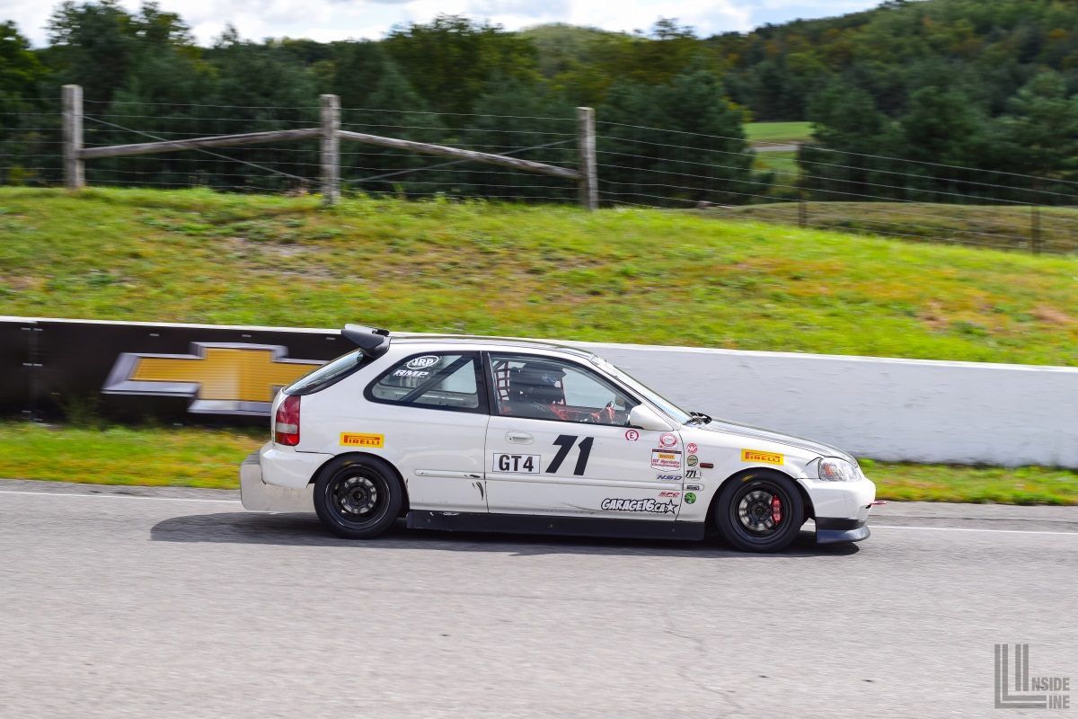 771 Motorsports Honda Civic EK hatchback at the 2018 Celebration of Motorsport, final round of the CASC Pirelli GT Sprints championship.