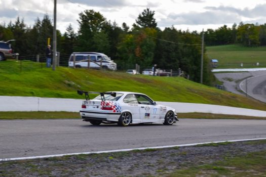 BMW M3 E36 racecar in the Pirelli GT Sprint GT4 class - 2018 Celebration of Motorsport, final round of the CASC Pirelli GT Sprints championship.