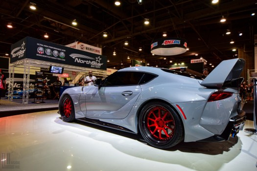 Toyota Supra HyperBoost at SEMA 2019, commissioned by Rutledge Wood