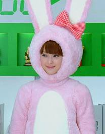 Inside Magic Image of Nozomi Sasaki in Magic Bunny Outfit