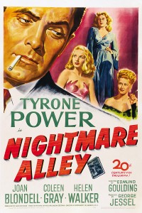 Inside Magic Image of Movie Poster for Nightmare Alley Starring Tyrone Power and Joan Blondell