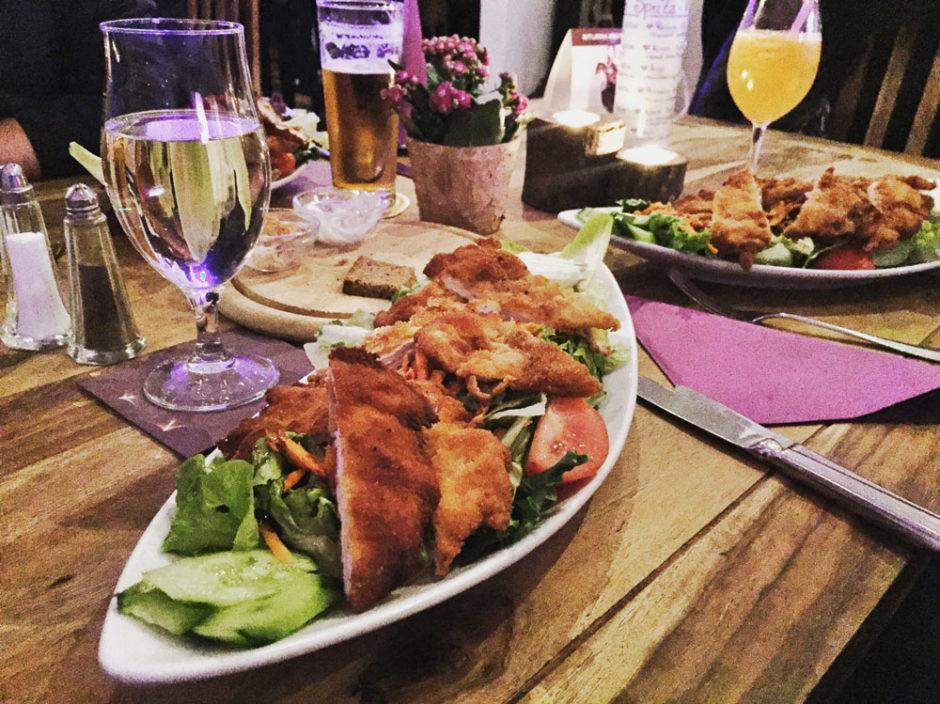 Munich restaurant Salad Austrian Food