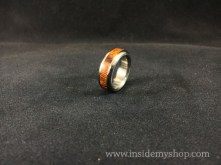 Ironwood & stainless steel ring