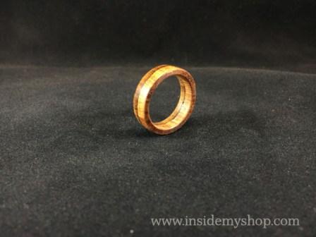 Rosewood & Zebrawood ring