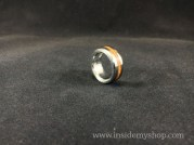 Rosewood & stainless steel ring