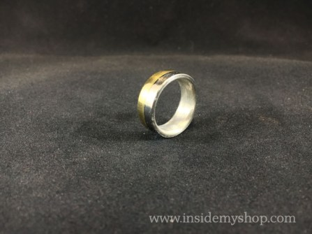 Brass & stainless steel ring