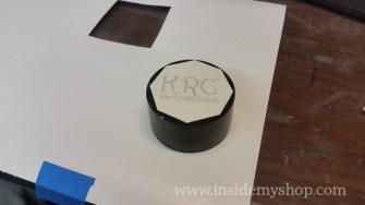 Mask allows for sand blasting letters on granite