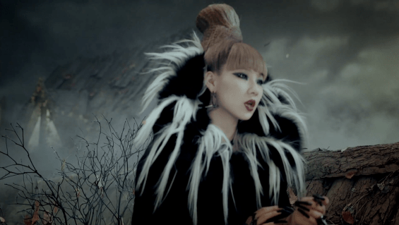 "Screenshot of 2NE1's ""It Hurts"""